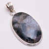 Solid 925 Silver Pendant Natural Moss