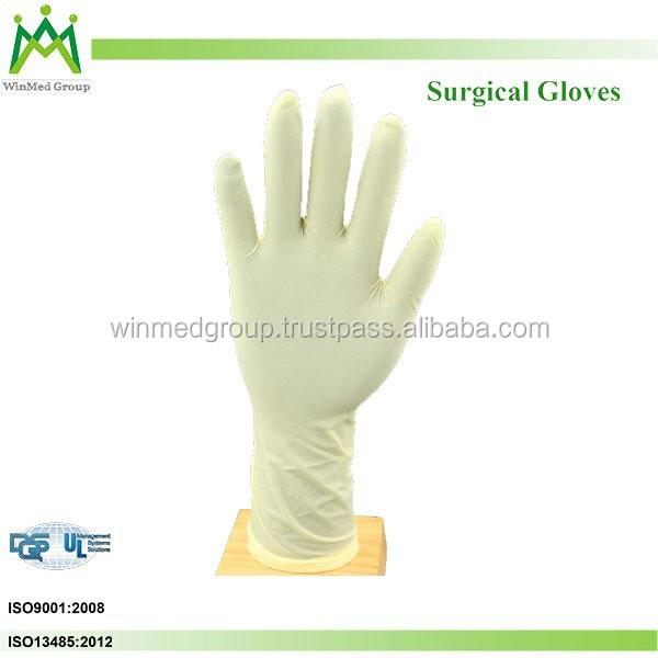 Disposable Sterilized Powdered Surgical Latex Gloves in malaysia