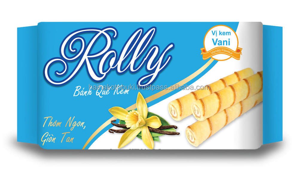 Cream wafer with vanilla flavor 130g confectionery food