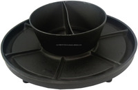Cast Iron BBQ Grill Plate and Bowl with Divider