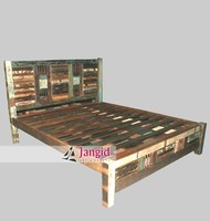 Reclaimed Wooden Bed furniture india