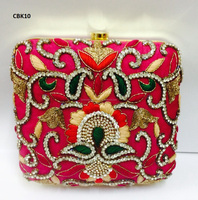 CBK10 Vintage Cotton Fabric Traditional Ethnic Banjara Kutch Indian Ladies Clutch Hand Bags Purse India Handicraft Potli Bags