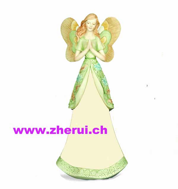 Poly Stone angel figurines