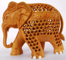 Wooden Carving Elephant Statue-510
