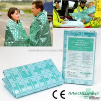 Waterproof and comfortable thermal blanket for emergency survival kit for patient carrier and any scene, CE certification