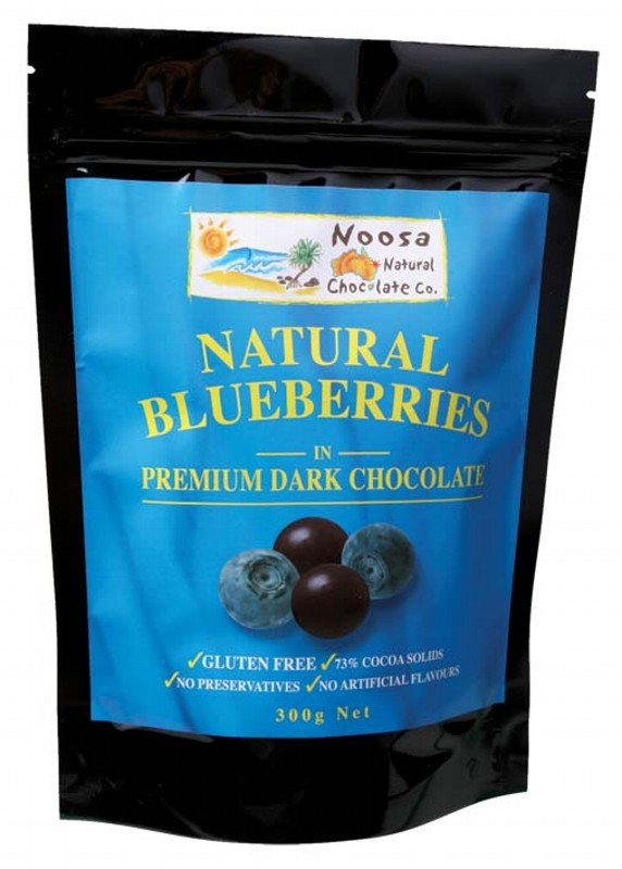 NOOSA NATURAL CHOCOLATE CO. Natural Blueberries in Premium Dark Chocolate 300g