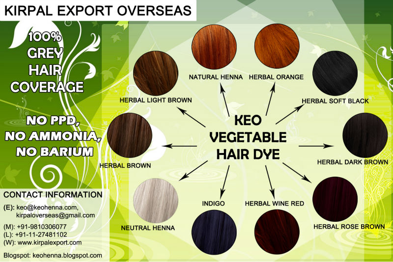 Vegetal bio hair color