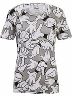 100% Cotton All-Over Print Short Sleeve T-shirt for Women - 200 GSM