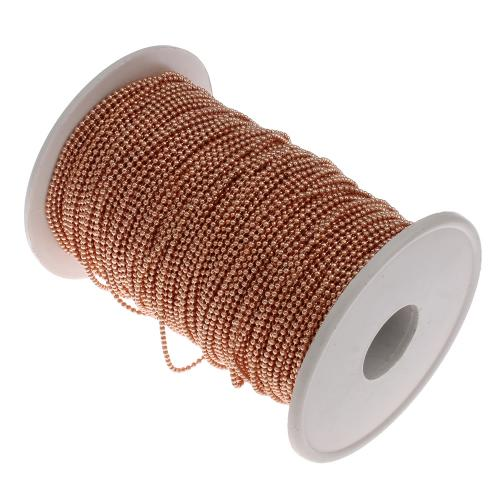 Iron Ball <strong>Chain</strong> with plastic spool reel bobbin wire spool rose gold color plated plating lead & cadmium free
