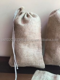 Jute Single Drawstring Bag Excellent Quality (Coffee Bag)