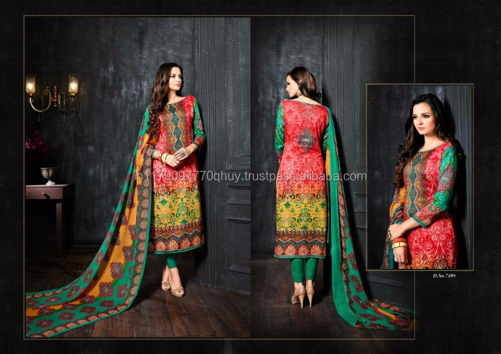 Sargam Jessi Vol 4 Glace Cotton 7101 Series Suit Printed work salwar kameez