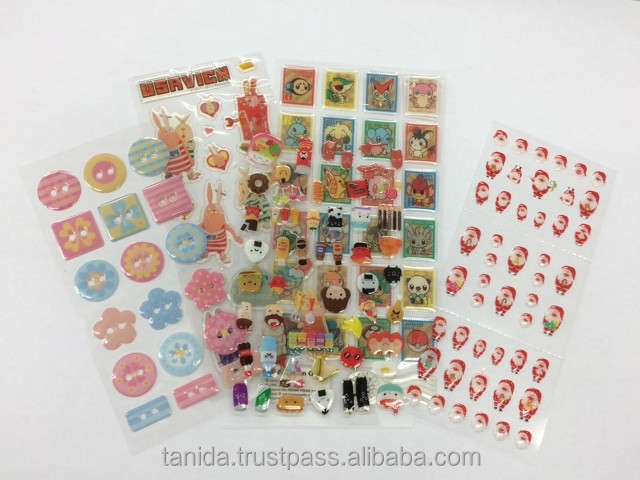 Decorative custom printed epoxy sticker made in Japan