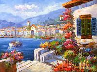 100% handmade oil painting classical landscape picture