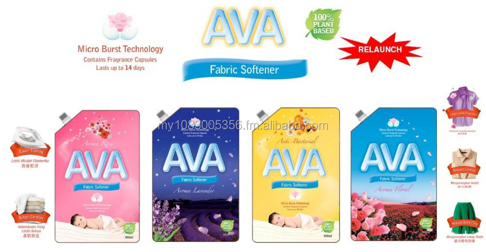 AVA Fabric Softener Aroma Roses, Lavender, Floral, Anti-Bacterial