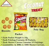 Coconut Biscuits/ Coconut Treat Crunchy Munchy Healthy Biscuits/ Children Biscuits