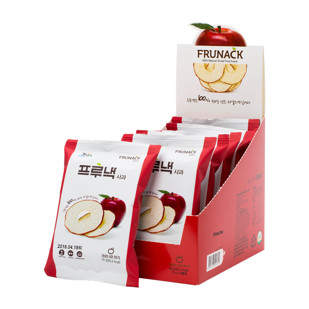 Frunack 100% Jeju Apple Natural Fruit Snack 10g x 4pcs 99% Vitamin C Nutrition