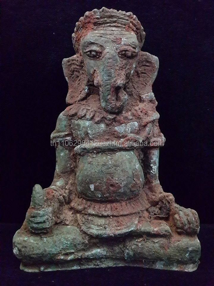 "REAL ANTIQUE KHMER STATUE CALLED ""GANESH GOD"" TALL 15 CM."