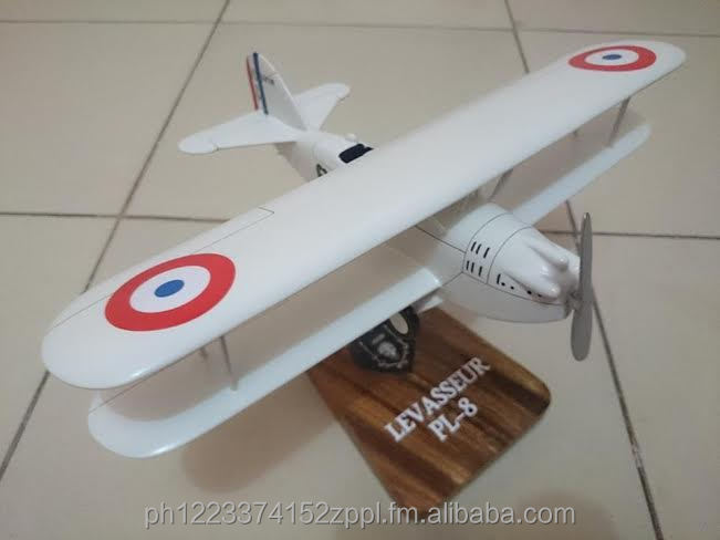 Levasseur PL-8 Wooden Model Airplane