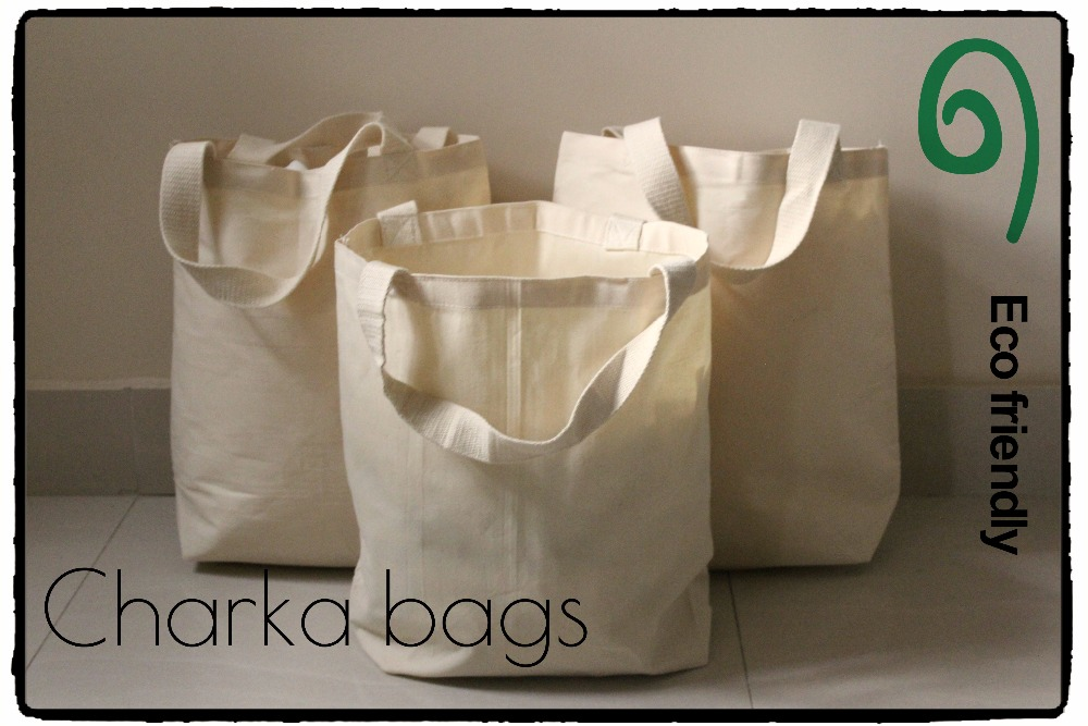 Plain Cotton Canvas Tote Bag with Bottom Gusset
