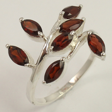 Hot Fashion Ring All Size Natural GARNET Gemstone 925 Solid Sterling Silver