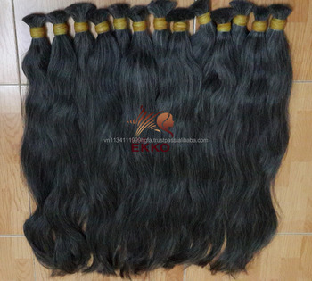 7A Body Wave 3pcs Grey Hair bulk 1b/Gray Two Tone Virgin human hair Hair extensions