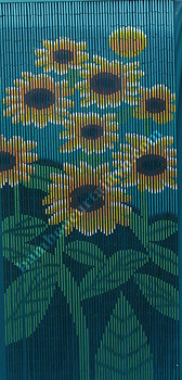 Roman style and latest design bamboo beaded door curtain sunflowers
