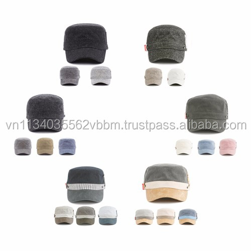 [P382-P409] military cap collection korea fashion cap cadet hat