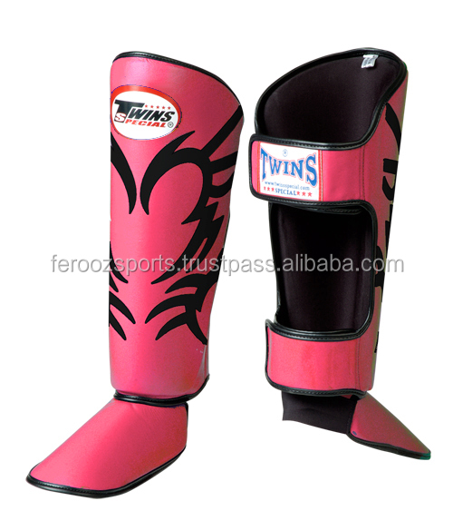 Muay Thai MMA Kickboxing Shin Guards by Twins Special SGL3