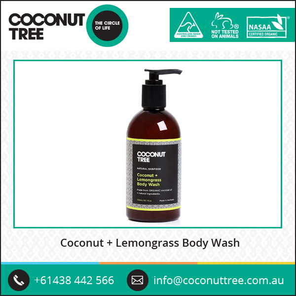 Premium Quality Coconut and Lemongrass Gentle Shower Gel Body Wash