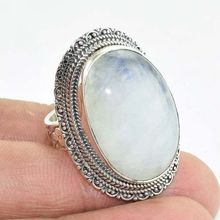 Solid 925 Sterling Silver Natural Moonstone WELL-MADE Ring Brand New Jewellery