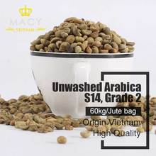 ARABICA COFFEE BEANS GRADE 2 SCREEN 14 UNWASHED, HIGH QUALITY IN VIETNAM COFFE BEAN