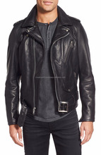 Soft smooth lamb skin Golden-Zip Leather Moto Jacket, Sexy Premium Genuine Leather Jacket - XS S M L XXL