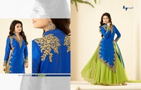 Sexy Georgette Embroidered Anarkali Frock Style Salwar Kameez Suit
