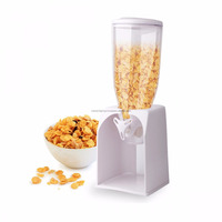Kawachi Plastic Single Cereal Dry Food Dispenser and Container