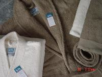 white shawl collar modal bathrobe /warm home wear