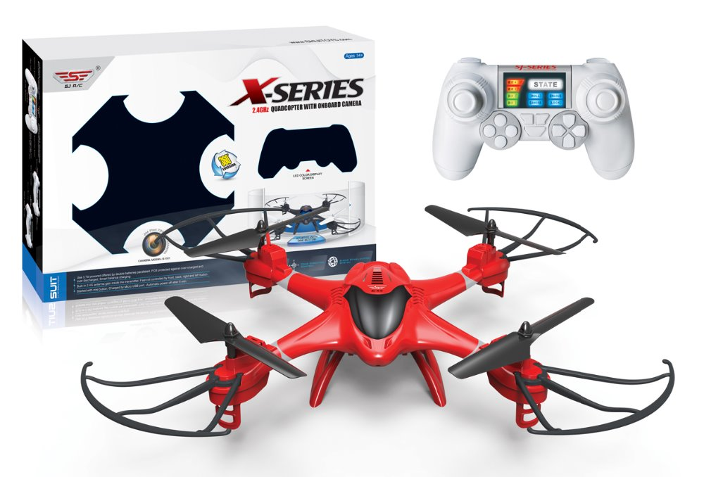 Drone long distance remote control RC Quadcopter with LED lights Eleciti X300-2