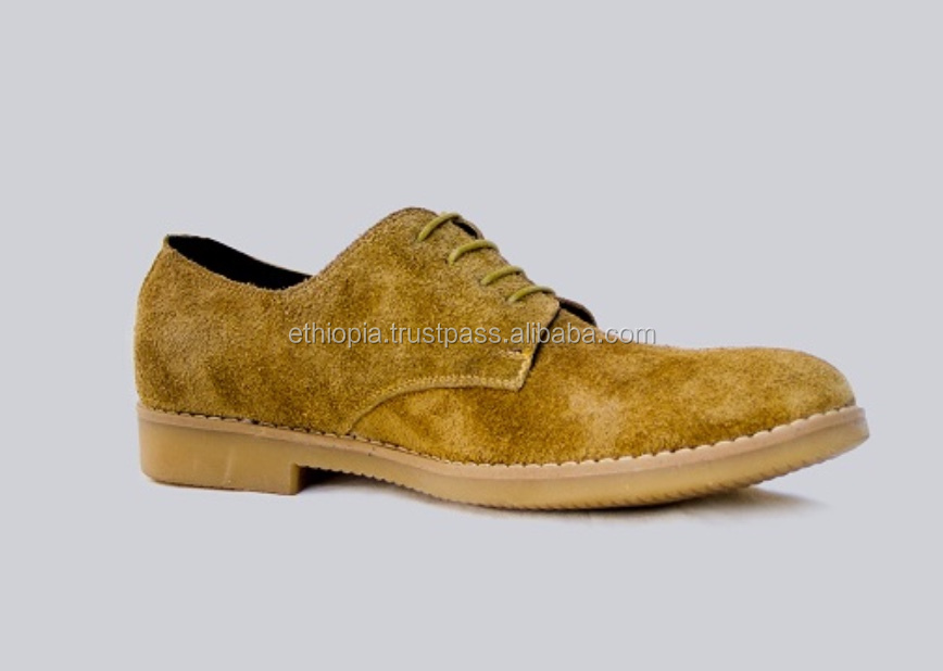 Fancy genuine leather men casual shoes with lace