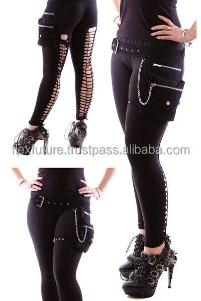 Leather Gothic belt by flex future
