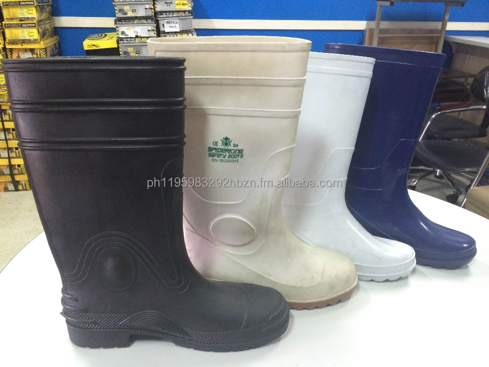 Rubber Boots Rain Boots With and Without steel toe Foot Protection