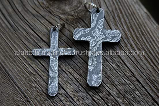 An antique christmas Special Pendant, antique Damascus Steel Cross Pendent