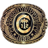 White Gold Customized College Class Rings