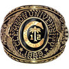 White Gold Customized vintage College Class Rings