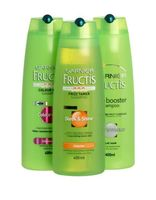 Garnier Fructis shampoo, Elseve Shampoo, Laru Shower gel 400ml