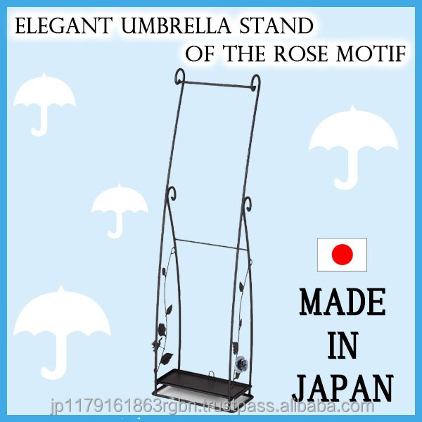 High quality and Functional hanging umbrella decoration stand with steel saucer made in Japan