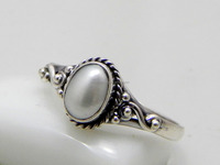 Natural Pearl 925 Sterling Silver ,silver jewelry gift for her, Silver Ring