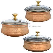 Set of 3 Copper-Plated Stainless Steel Mixing Bowls