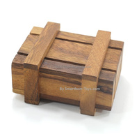 Mysterious Wooden Box,Classic Wooden Games and Toys,Interlocking Puzzles,Brain Teasers