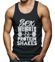 2016 New Custom made Cheap Price Sex weights protein shakes body building gym singlets tank tops undershirts for men vest wear