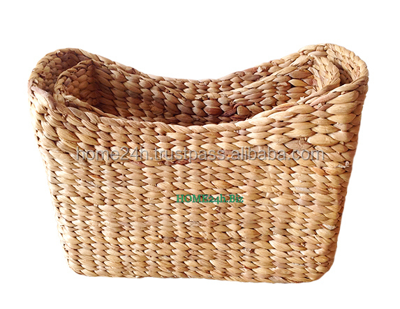New productBest selling Vietnam crafts High-Quality craft water hyacinth storage basket for home decoration/houseware/sundry/toy