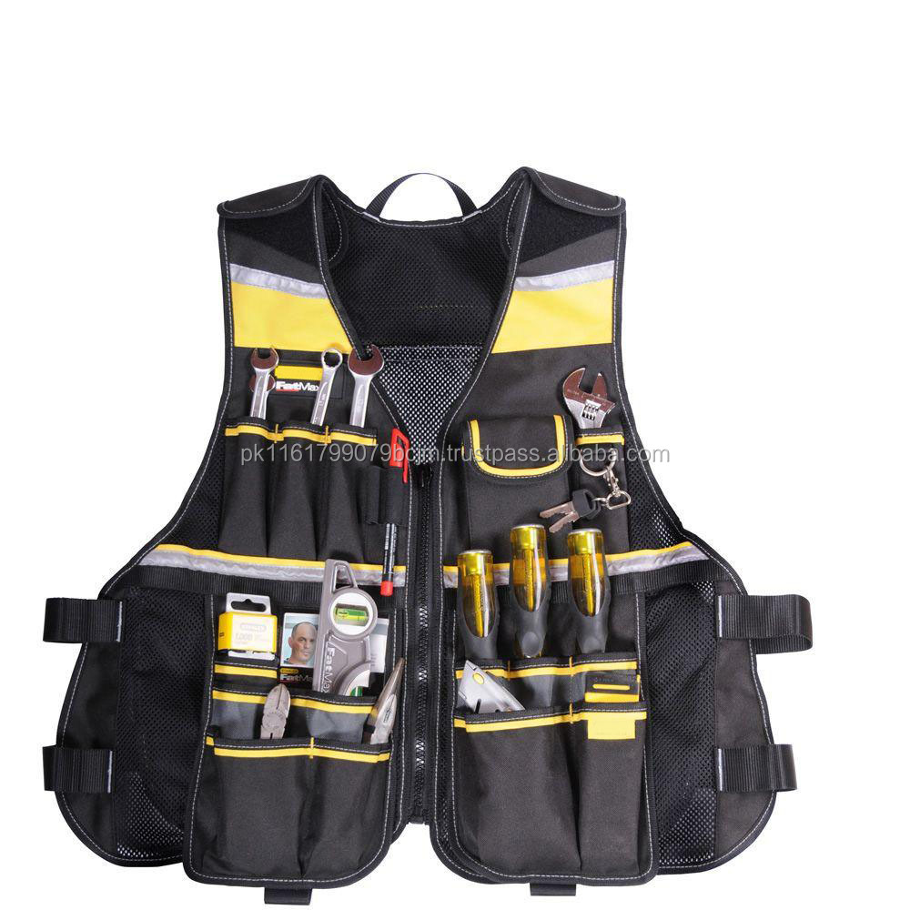 Reflective Men Multi Pockets Security Safety Working Vests